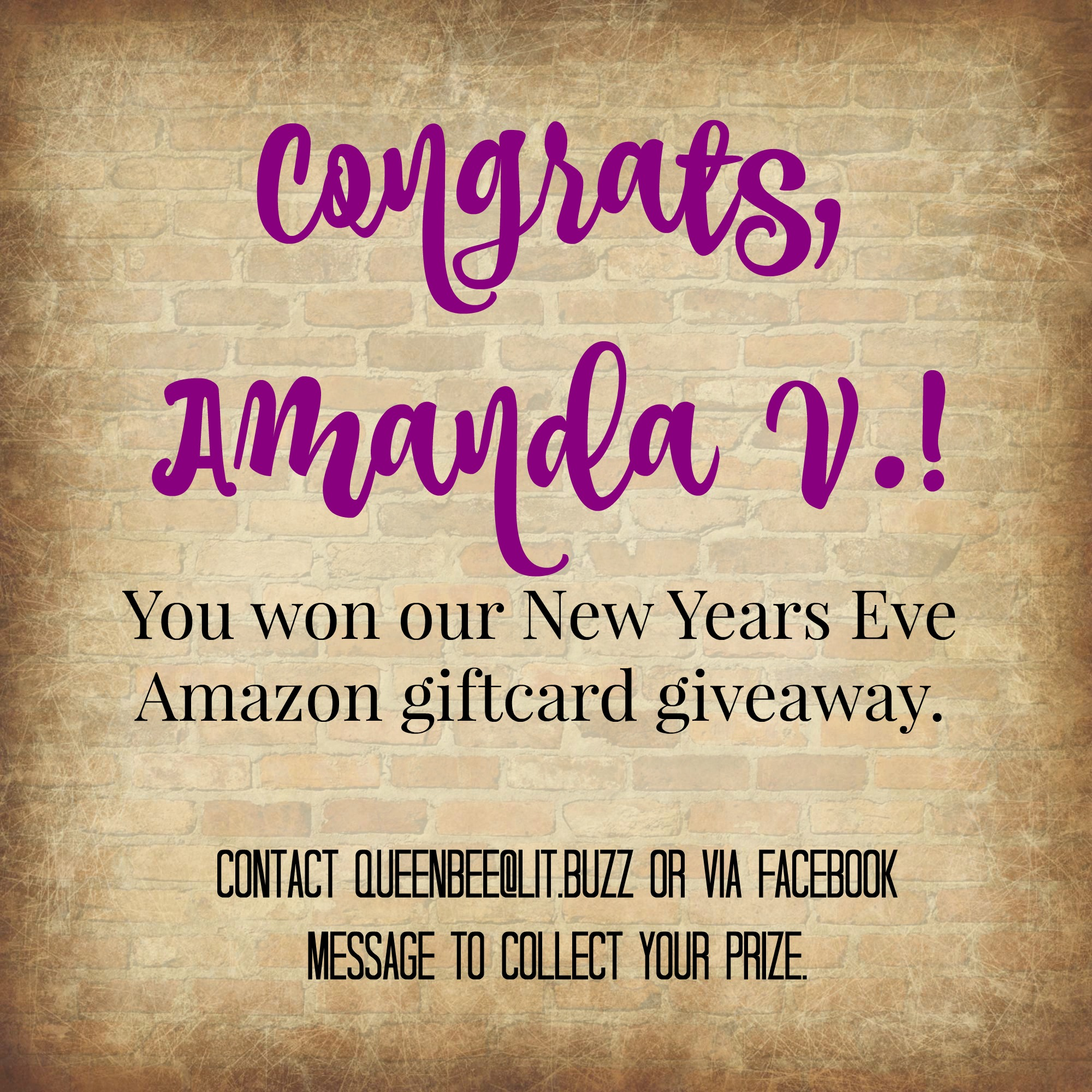 New Years Eve Giftcard Winner Announcement! ⋆ LitBuzz